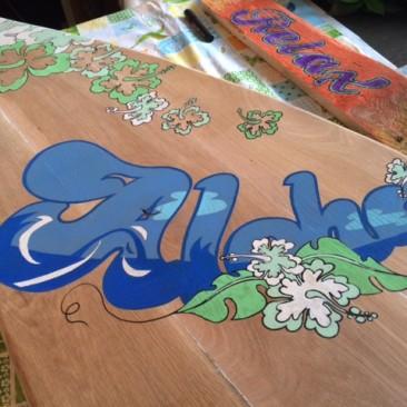 Houten surfboard producten